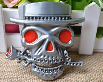 Skull Belt Buckle,Skeleton Belt Buckle,Romantic Skull Belt Buckle,Steampunk Metal Belt Buckle For Belt Carft