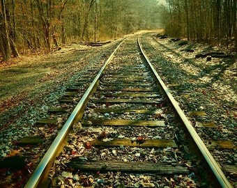 """Train Track to Nowhere Photo 5x7"""" or 8x10"""""""