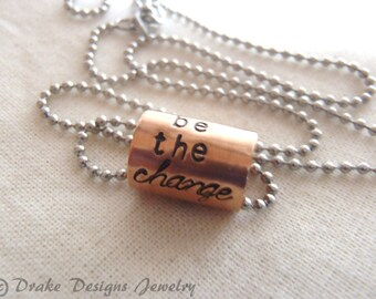 be the change necklace inspirational jewelry