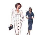 Womens Dress Vogue 7116 Sz 12-14-16 Bust 34-38 Semi Fitted Straight Dress Dart Tucks Pockets Womens Vintage Sewing Pattern UNCUT/FF