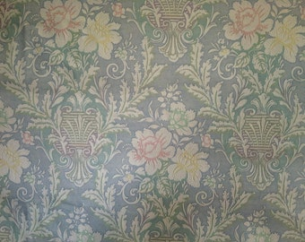 1920's Antique Embossed Floral Wallpaper By the Yard