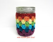 mason jar cozy - non-slip sleeve - made in your color choice- half pint 8oz - pint 16oz - quart 32oz - coffee cozy - handmade by RockinLola