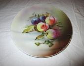 Jaeger & Co. (Bavaria, Germany) Hand-Painted Porcelain Plate Fruit and Nuts - 8 inch - Porzellanfabrik Marktredwitz