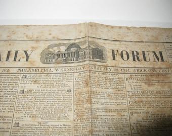 Vintage Daily Forum Volume IV-No 102 Philadelphia February 28 1844