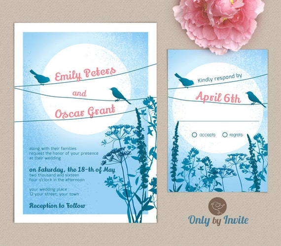 Cheap Rustic Wedding Invitation Kits: Rustic Country Wedding Invitation And RSVP Printed By