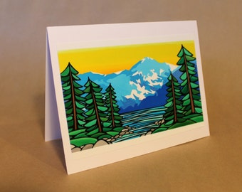 West Coast Art Cards By Misha Smart Artworks- 'Our Great Bear Rainforest'