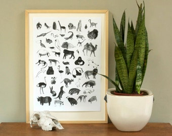 Bunch O' Animals / Print