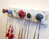 Periwinkle Blue and Red Jewelry Organizer
