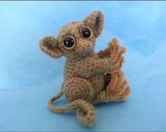 Pygmy Tarsier Realistic Amigurumi Crochet Pattern PDF