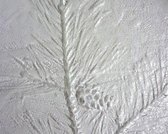 Kaija Aarikka for Humppila Finland / Pine Twig Glass Plate /  Scandinavian Art Glass