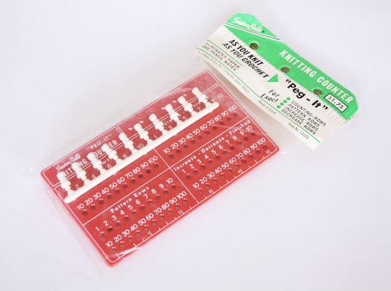 Knitting Counter Ring : Knitting row counter vintage susan bates red peg it tool