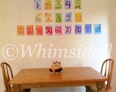 5x7 Wall Art Number Cards Printed from my Original IArtwork