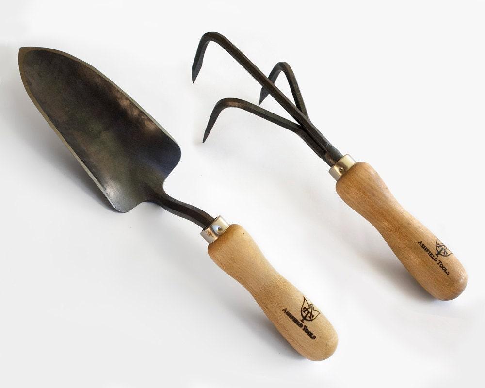 Garden tool set cultivator trowel from ashfieldtools on for Cultivator garden tool