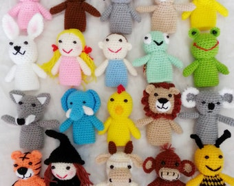 Crochet finger puppets for kids.