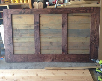 2 - Tone Rustic Queen Headboard