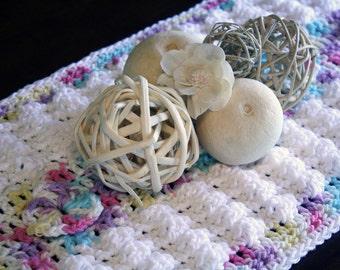 Tastefully Textured Table Runner Crochet PDF Pattern Instant Download