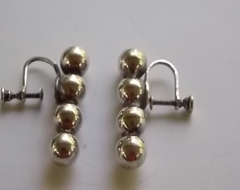 Vintage Sterling Silver Screwback Earrings