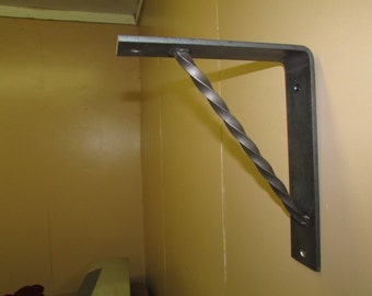 Heavy Duty Metal Bracket/Corbel For Book Shelf, Granite, Marble or Countertop Support Hand Forged Wrought Iron