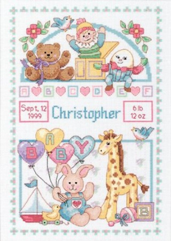 Cross Stitch Kit Birth Record For Baby By Dimensions