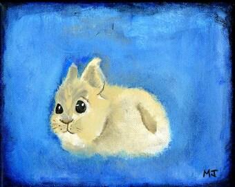 Fluffy Bunny. Canvas Print.