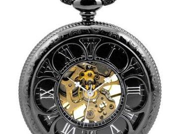 Pocket Watch Pendant Mechanical Pocket Watch Pendant groomsmen gift Sunflower Pocket Watch 800-060