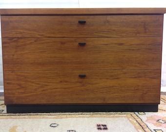 Mid Century Modern Teak Three Drawer Cabinet