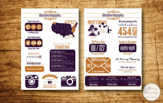 Custom Infographic Wedding Program Printable File by ...