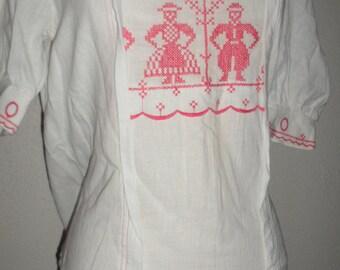 vintage wila kleidung white  shirt size 40