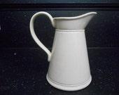 Vintage White Ceramic Vase/Pitcher