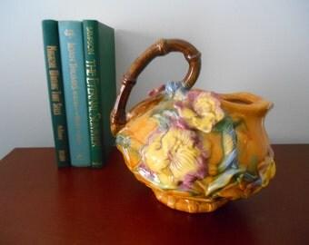Decorative Pitcher, Serving Pitcher, Pitcher, Vintage Serving Pitcher, Vintage Vase,Art Nouveau Pitcher,Ceramic Vase