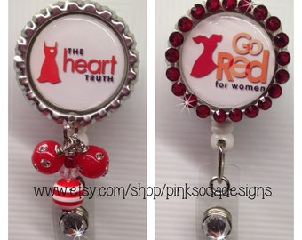 Go Red | Heart Disease Awareness for Women - Retractable ID Badge Holder