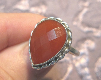 Carnelian Sterling Silver Ring Sizes 6 and 5 3/4