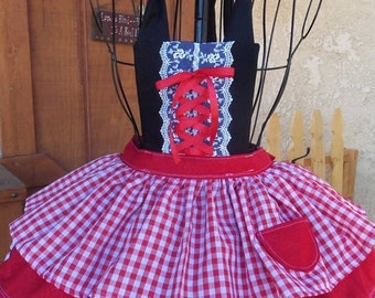 My little sweet heart red ridding hood child's apron