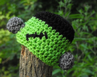 Twin Frankenstein monster hat made to size wonderful warm Halloween outfit or photography props includes 2 hats