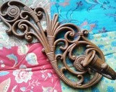 Vintage Wall Sconce Homco Syroco USA Made, Candle Holder Gypsy Flower Child, Boho Bohemian Decor, Ornate Scroll Hanging Tillandsia Display