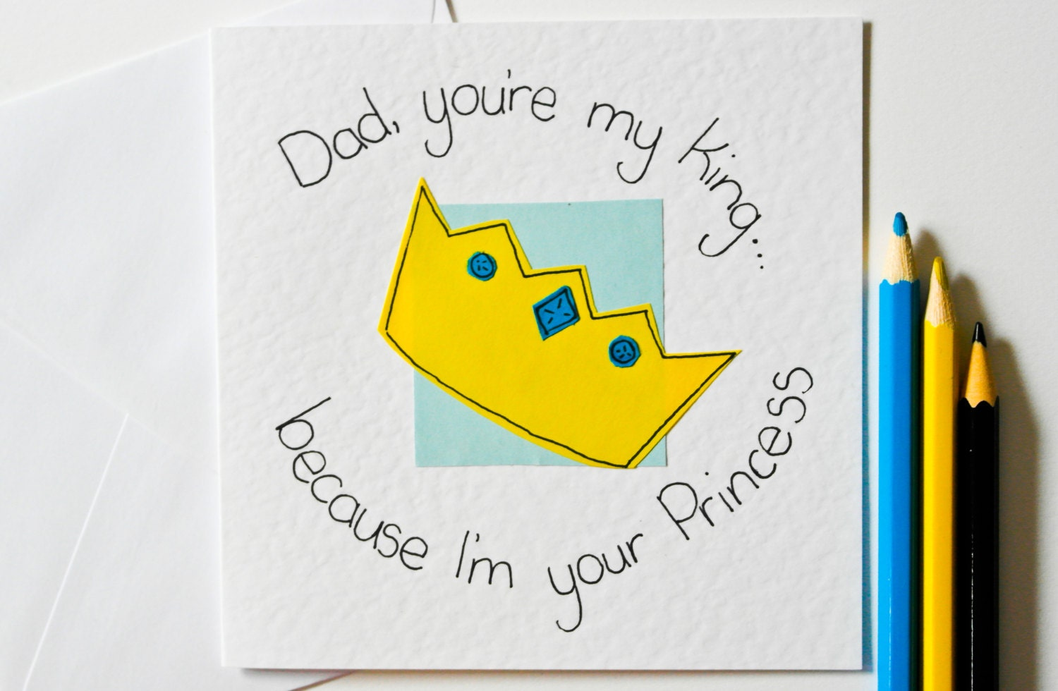 handmade greeting card for dad dad you're my king