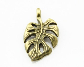 12 pcs of metal Calla Lily charm pendant 20x16mm-1271-antique bronze