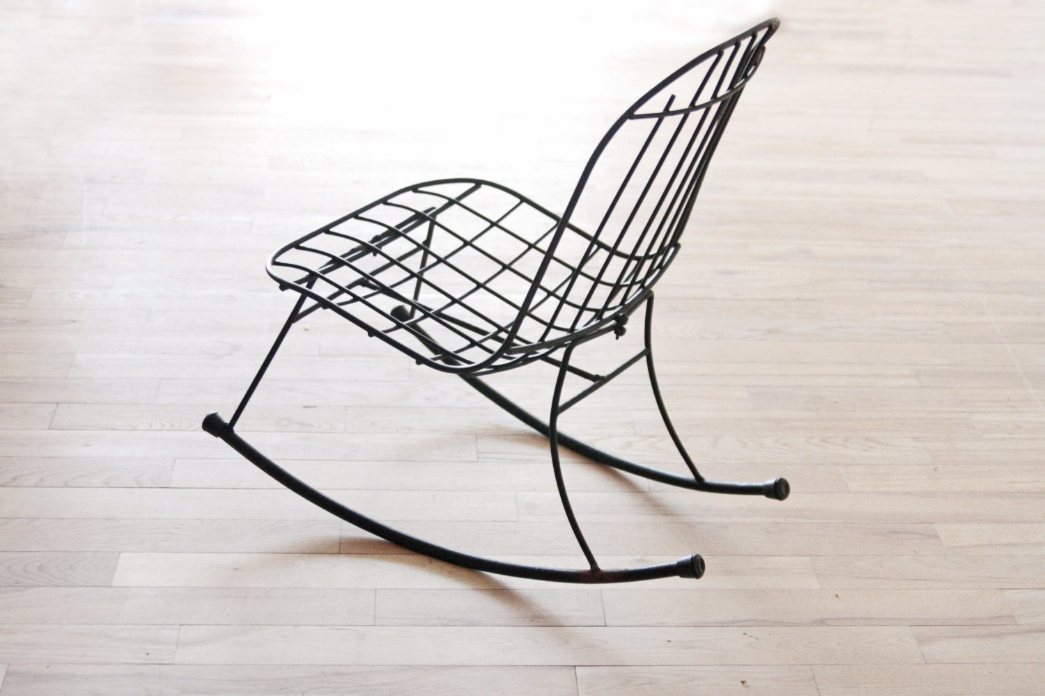 Wire Rocking Chair Wrought Iron Patio Chair Etsy Finds