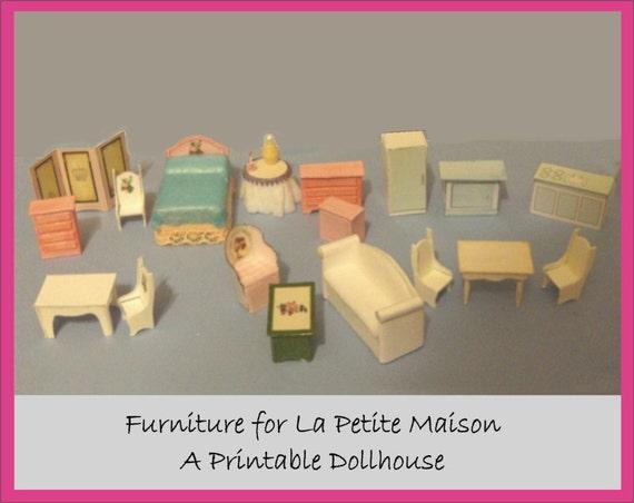 Printable Craft Kit Miniature Furniture For La Petite Maison