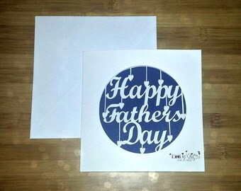 Happy Fathers Day paper cut card