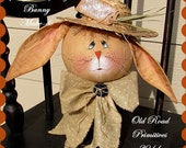 Primitive Folk Art Spring has Sprung Bunny Make-do Instant Download PDF Pattern