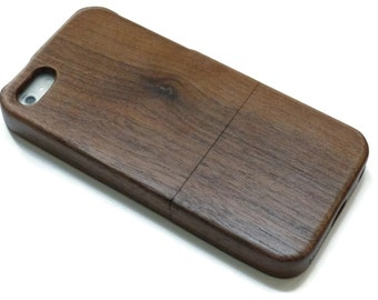 wooden iphone 5 case / iphone 5S case wood- wood iphone 5 case walnut, cherry or bamboo wood - real wood.