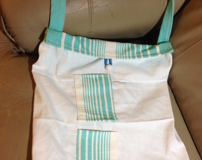 Cotton and Canvas Tote Bag with Over the Shoulder Strap and Button Closure