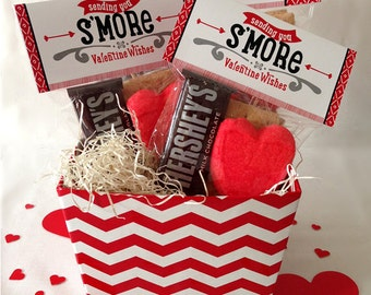 Valentine Smores Bag Toppers, Instant Download, Printable, 2 Sizes
