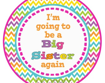 Iron on Transfer DIY - I'm going to be a big sister again - Sibling Shirt Iron Ons