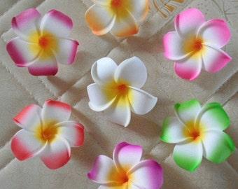 7cm Plumeria Hawaiian Foam Frangipani Flower Floating Flowers 10pcs For Wedding Party Decoration Beach Wedding DIY Crafts Hair Clips
