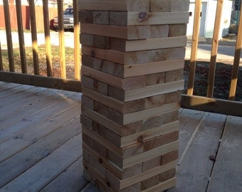 "Tumbling Timbers ""Larger"" Set Handmade from soild CEDAR wood! Great for Parties, Weddings, Camping and so Much More"