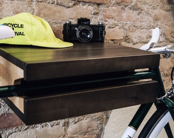 FLASH SALE 30% off: FIXA multi functional wood bike shelf - bike rack - wall holder furniture mount