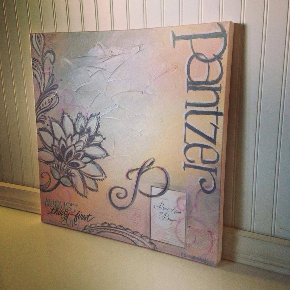 Personalised Wedding Gift For Bride And Groom : Personalized Wedding PaintingCustom gift for bride and groom ...