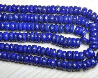 7 Inch Long Strand-Super-AAA Quality, LAPIS LAZULI Micro Faceted Rondells, 5.5-6mm Size